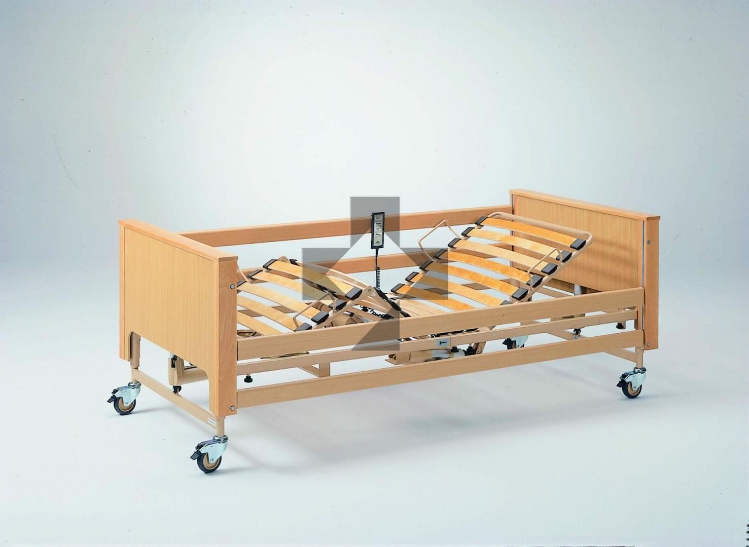 Letti elettrici e letti e ausili letto ortopedico elettrico legno con base regolabile in - Sostituzione rete letto contenitore ...