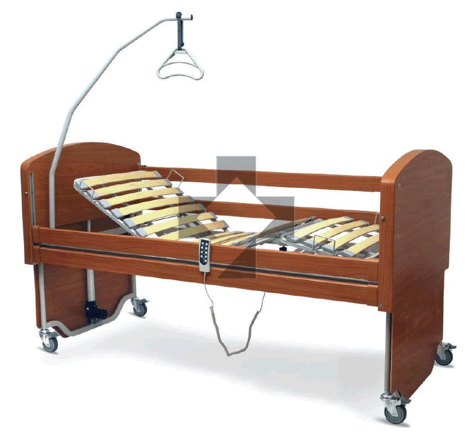 Letti elettrici e letti e ausili letto ortopedico elettrico con base regolabile ruote sponde e - Letto ortopedico con sponde ...