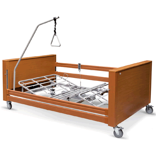 Letti elettrici e letti e ausili letto ortopedico elettrico in legno con base regolabile in - Letto ortopedico con sponde ...