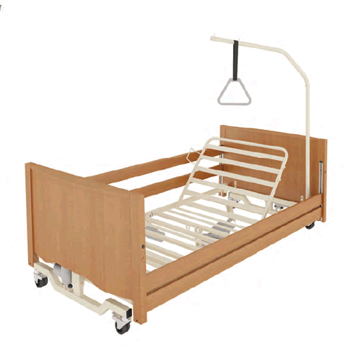 Letti elettrici e letti e ausili letto ortopedico elettrico in legno con base regolabile ruote - Letto ortopedico con sponde ...