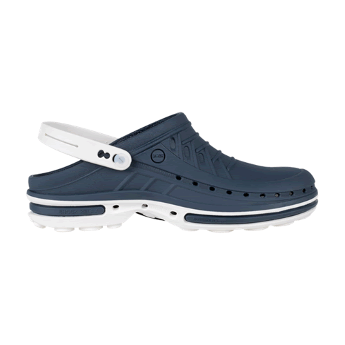 Calzatura professionale in gomma Wock 03 Blu Navy/Bianco Kinemed