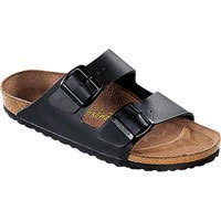 Ciabatta Arizona Birko Flor Nubuk Brushed Black 552913 Birkenstock