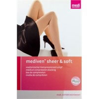 Collant a punta chiusa 20/30 mmHg Mediven Sheer&Soft Ebony 434